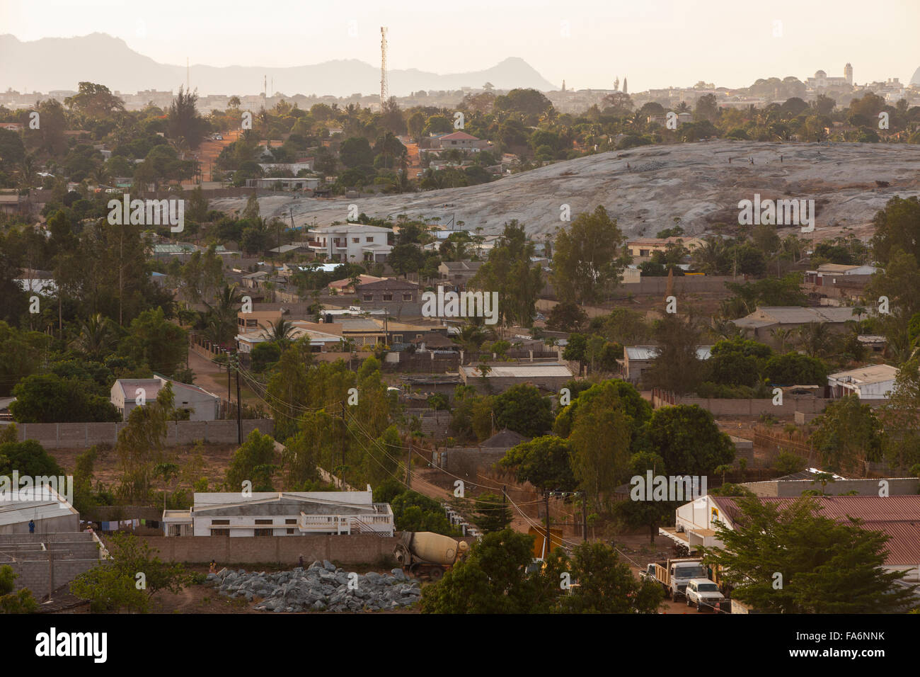The city of Nampula is the largest city in northern Mozambique. - Stock Image