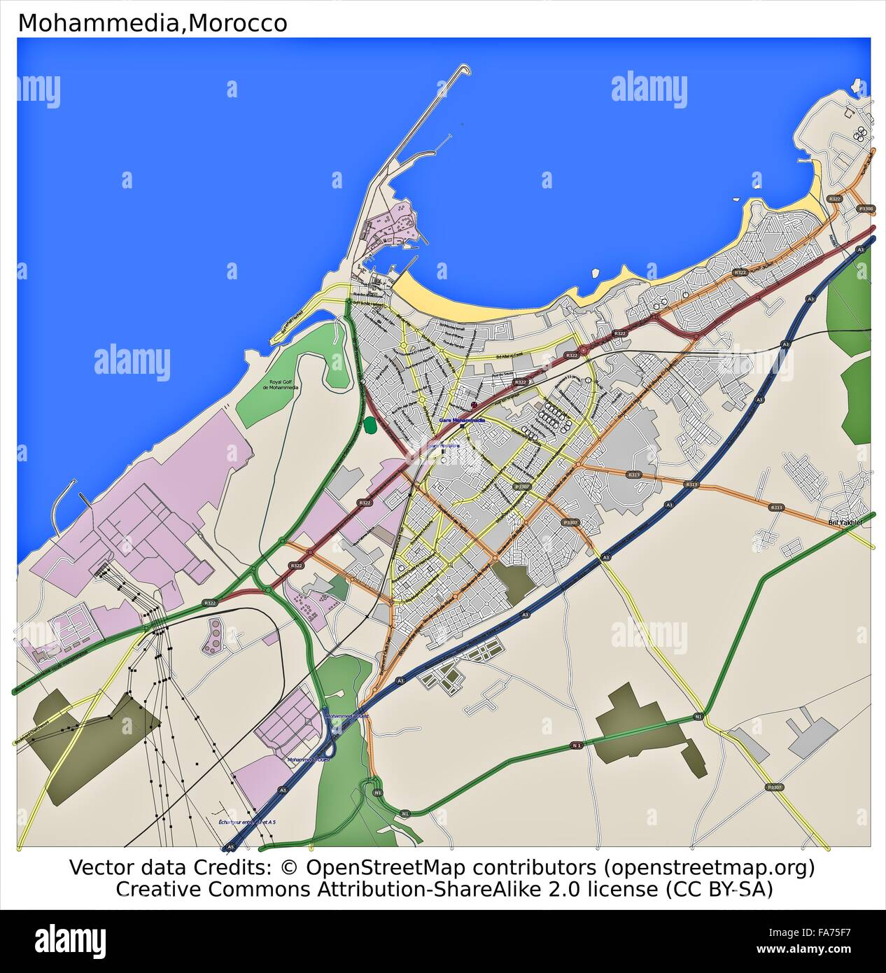 Mohammedia Morocco location map Stock Photo 92356411 Alamy