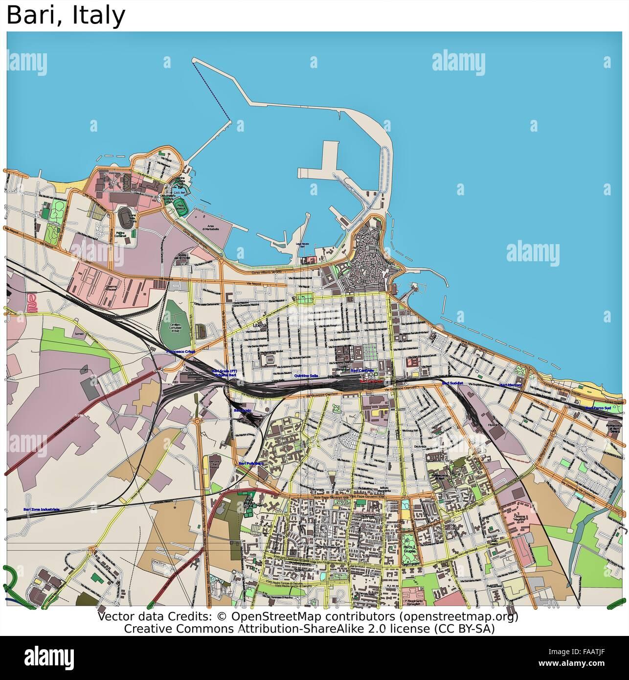 Bari italy city map stock photo 92437255 alamy bari italy city map thecheapjerseys Choice Image