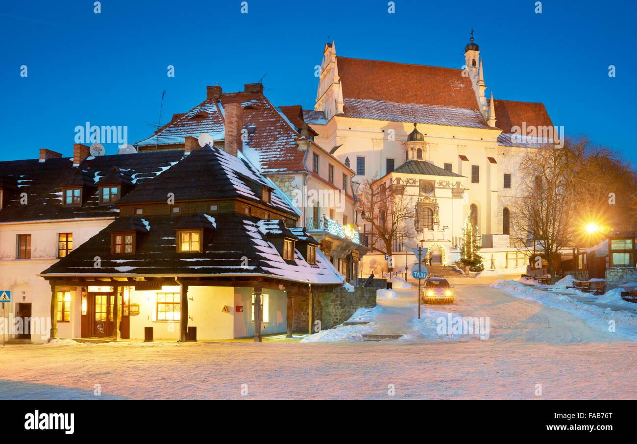 Kazimierz Dolny - The Market Square, Old Town, Poland - Stock Image