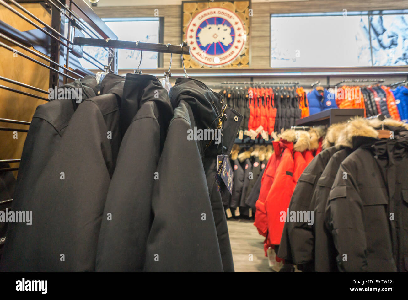 4b41741b3e3d Canada Goose and other brand parkas in a store in New York on Friday ...