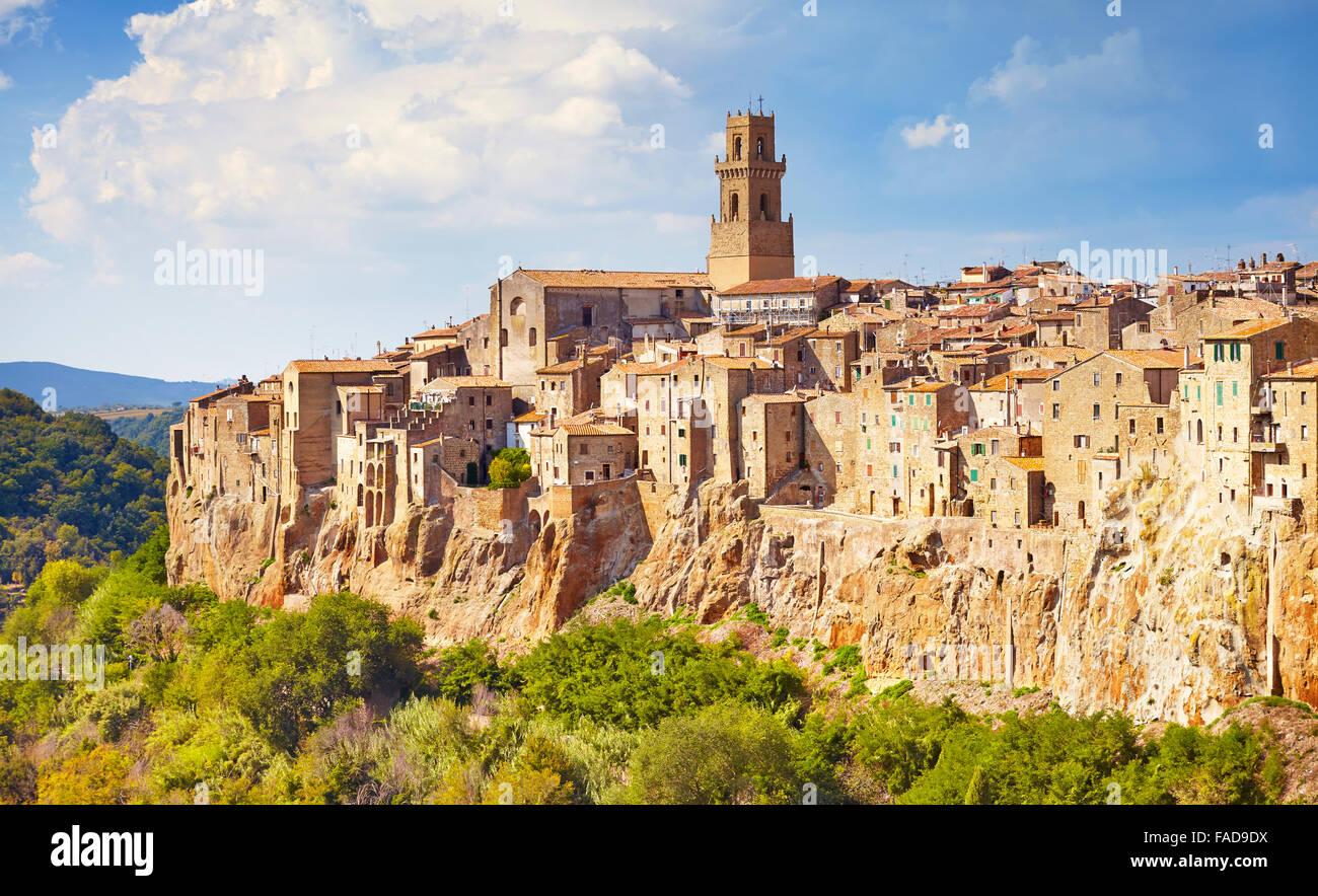 Pitigliano cityscape, Tuscany, Italy - Stock Image