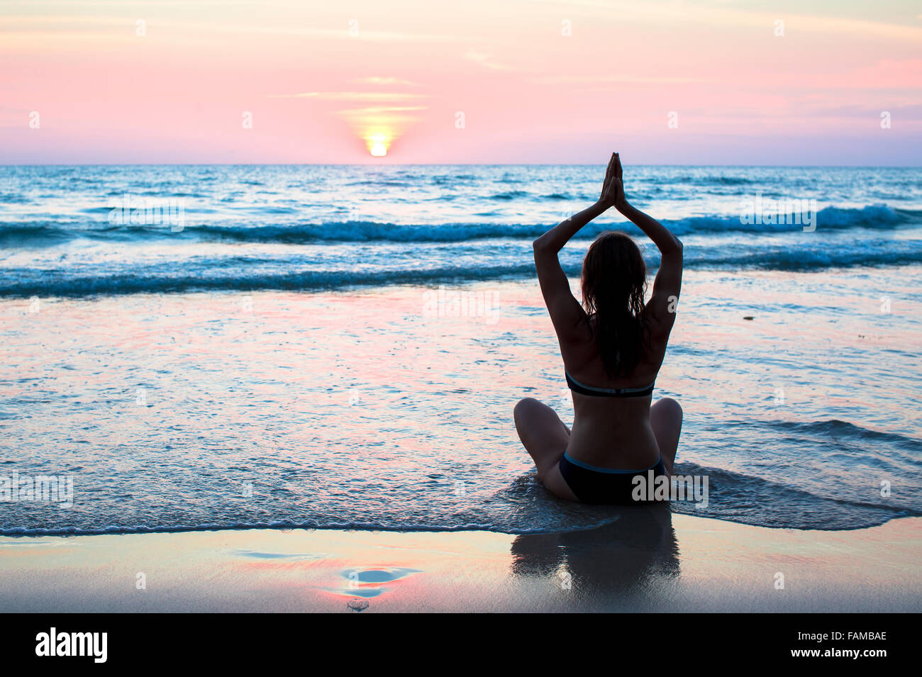 Yoga and fitness, healthy lifestyle. - Stock Image
