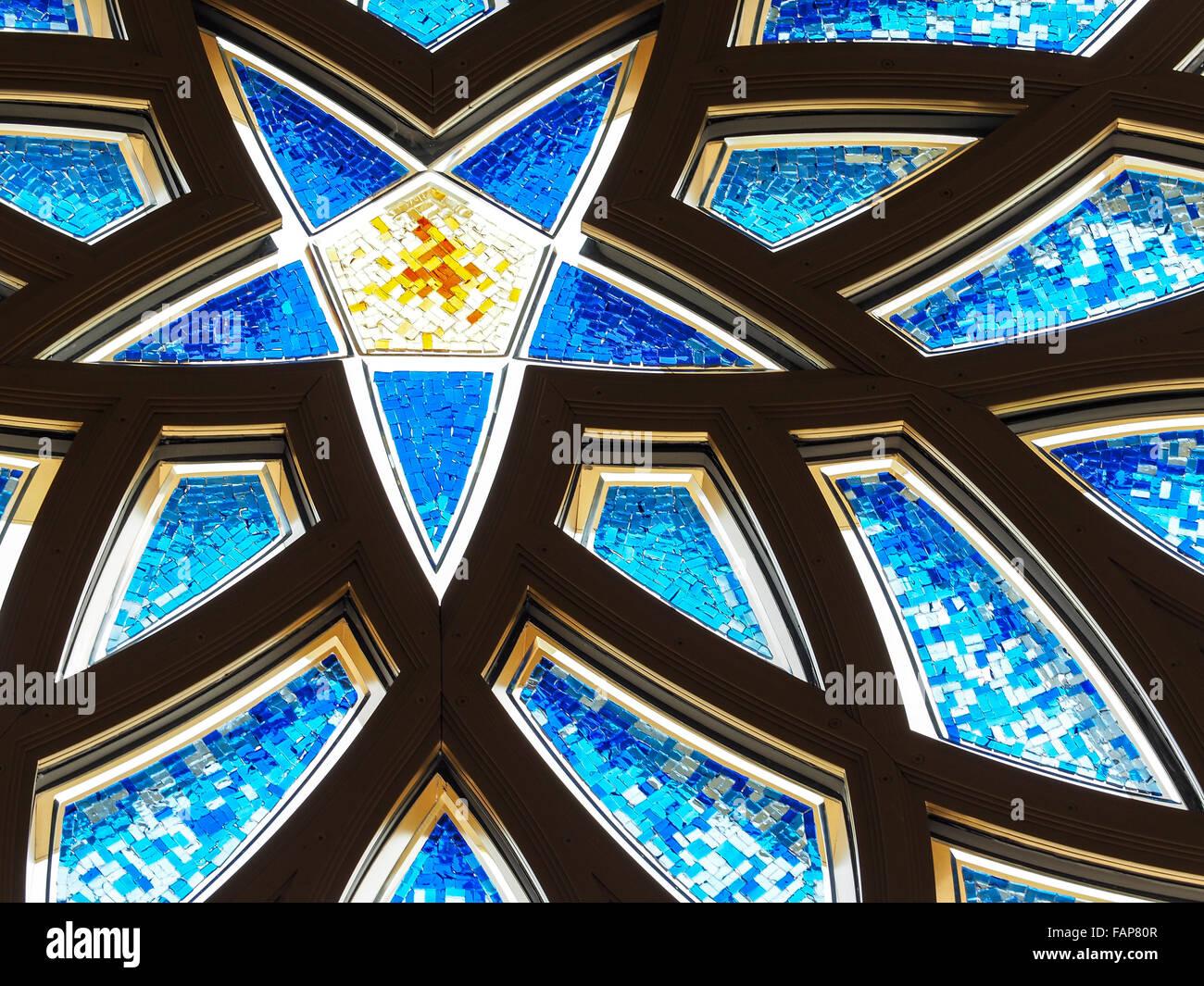 Sheikh Zayed Mosque, Abu Dhabi, United Arab Emirates - Stock Image