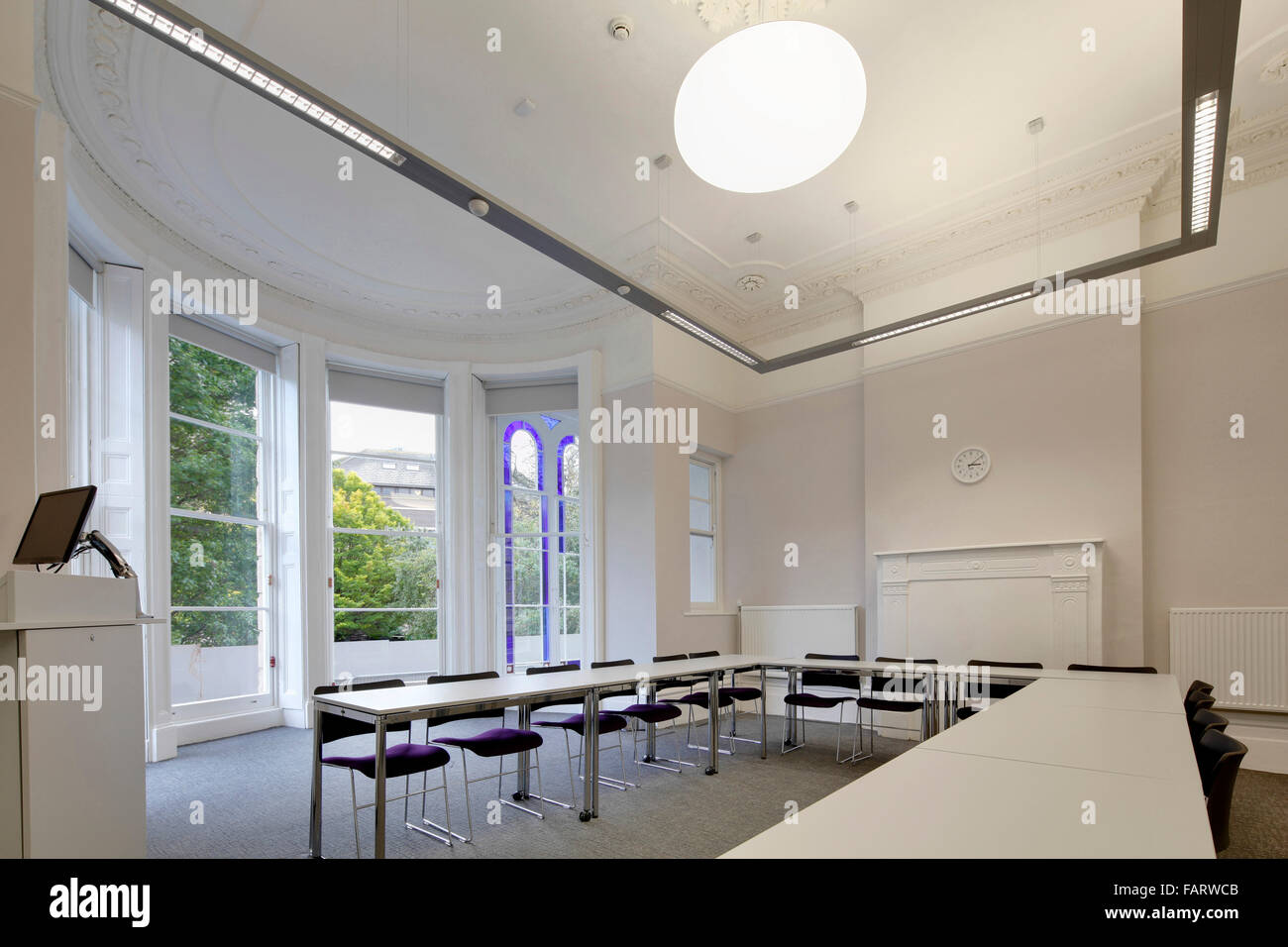 Merveilleux Tyndalls Park Road Refurbishment Of University Teaching And Administration  Spaces A Room With A Large Screen Tables And Chairs.
