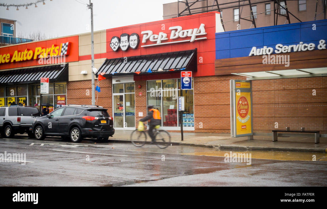 Pep Boys Store Hours >> A Pep Boys Auto Parts Store In The Sunnyside Neighborhood Of New
