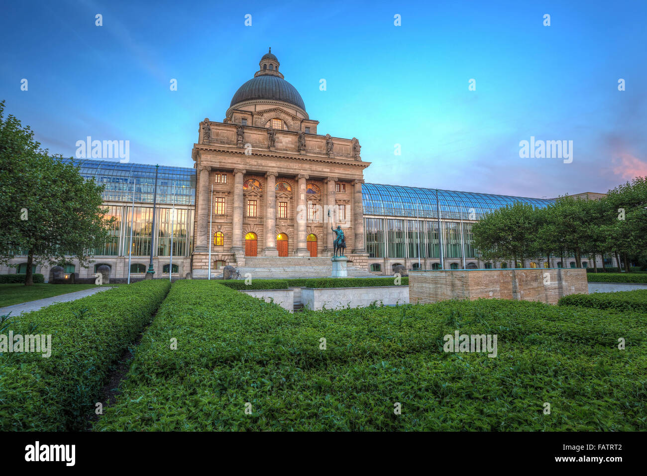 State building of Munich city, Germany - Stock Image