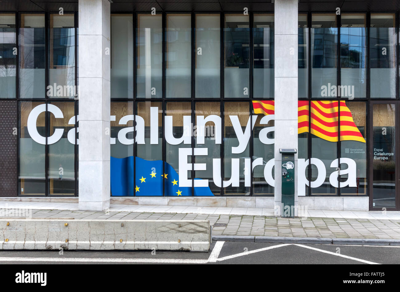 Brussels. The office of the Delegation of the Government of Catalonia to the European Union EU. - Stock Image