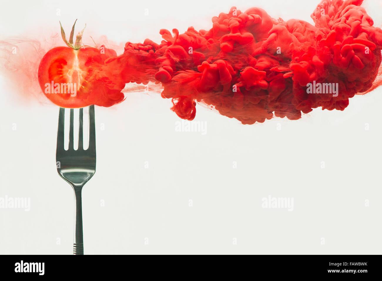 Disintegrated tomato - Stock Image