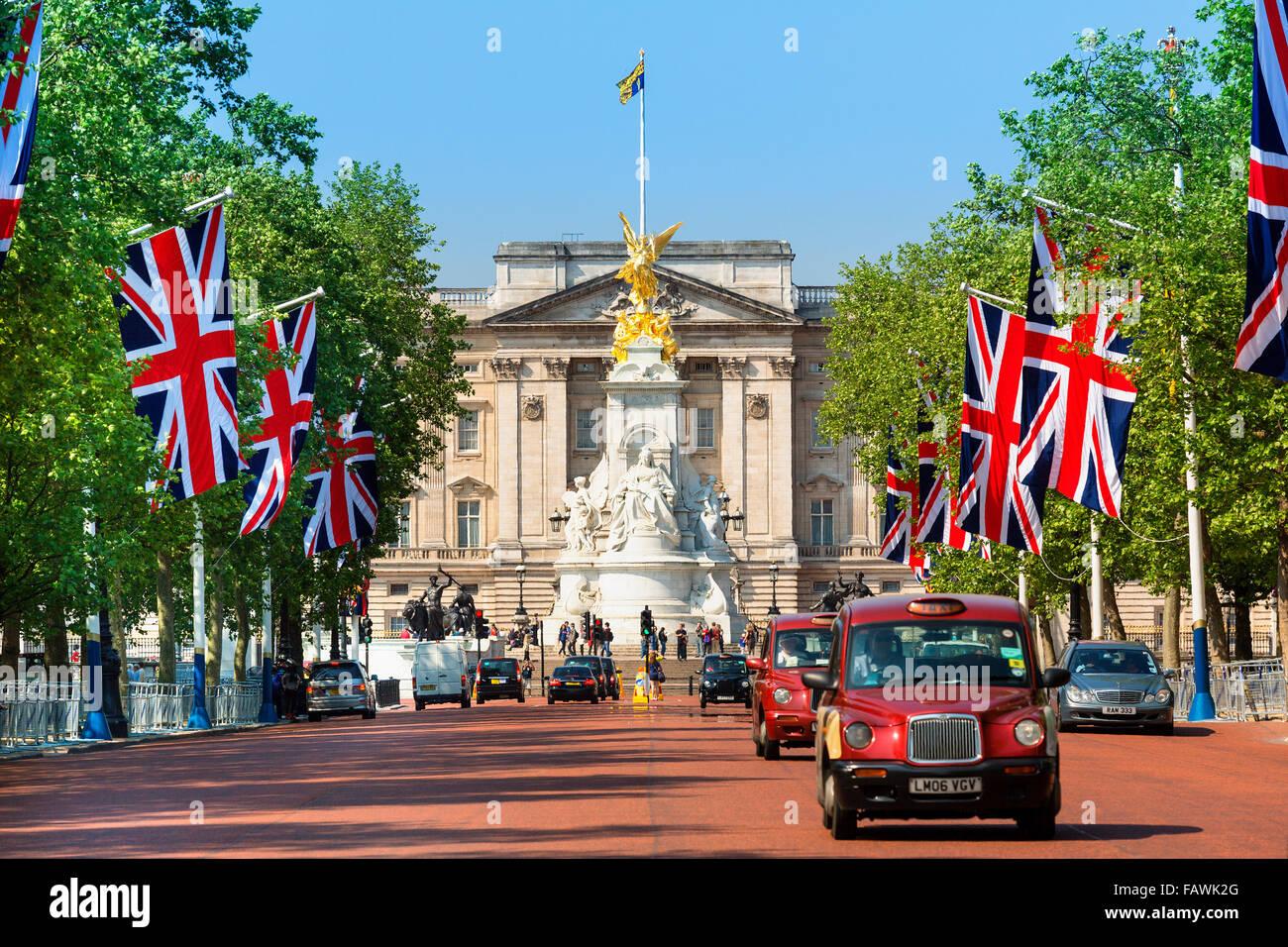London, Buckingham Palace - Stock Image
