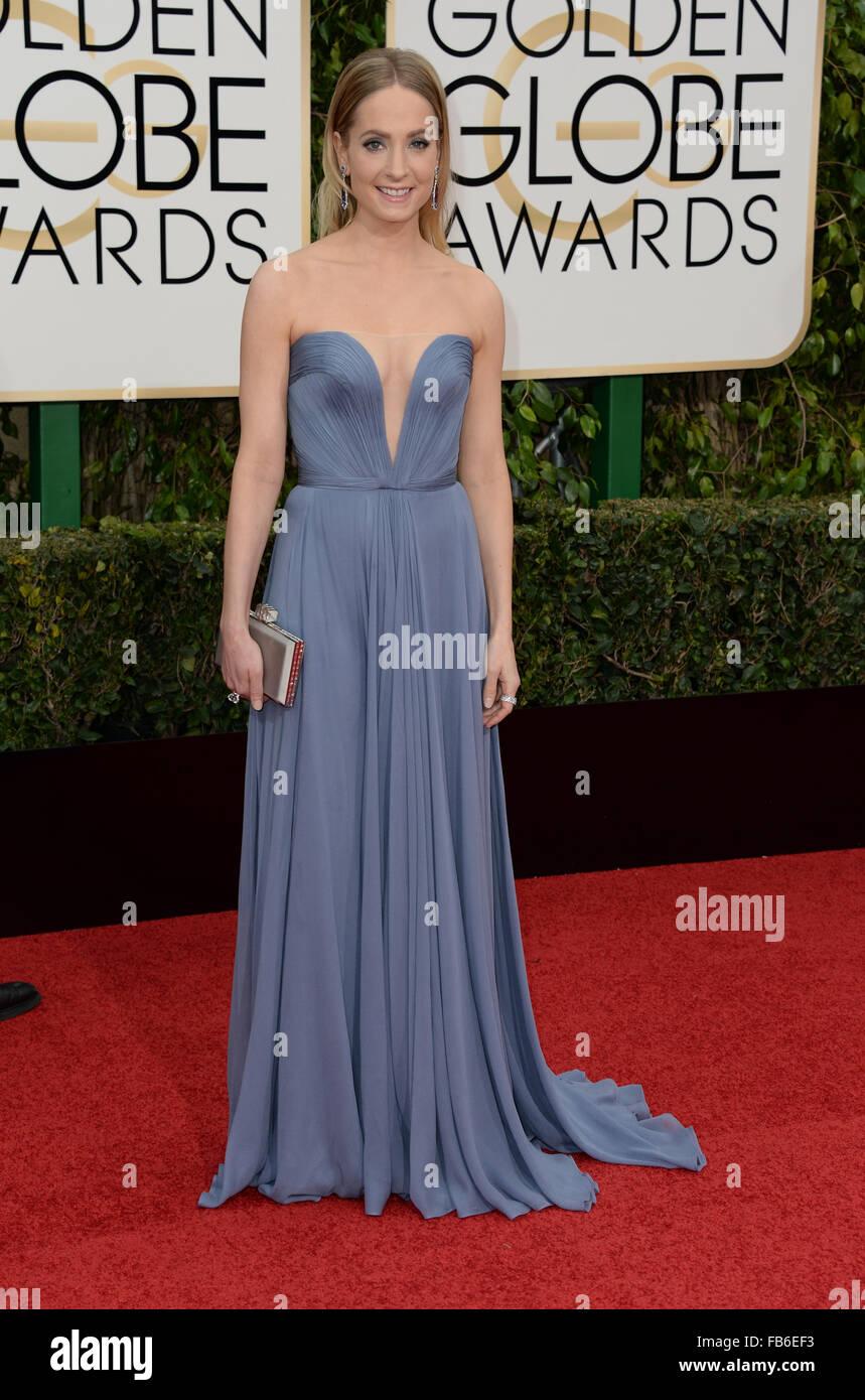 Los Angeles, California, USA. 10th January, 2016. Joanne Froggatt  arrives at the Golden Globes, Los Angeles, CA - Stock Image