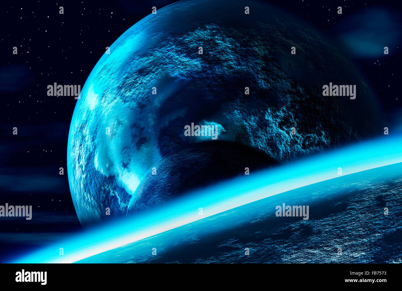 planets - Stock Image