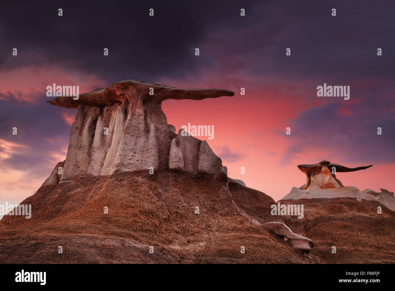 The Wings, bizarre rock formations in Bisti Badlands, New Mexico, USAStock Photo