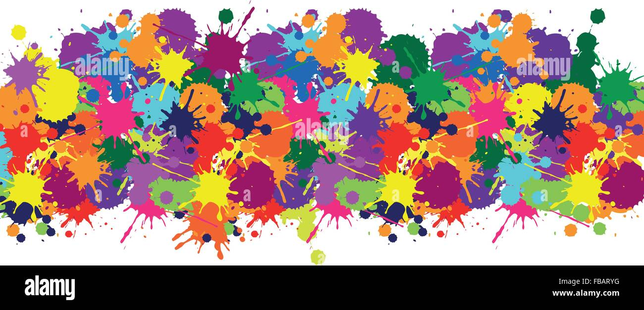 illustrator texture seamless pattern with colorful brush for web