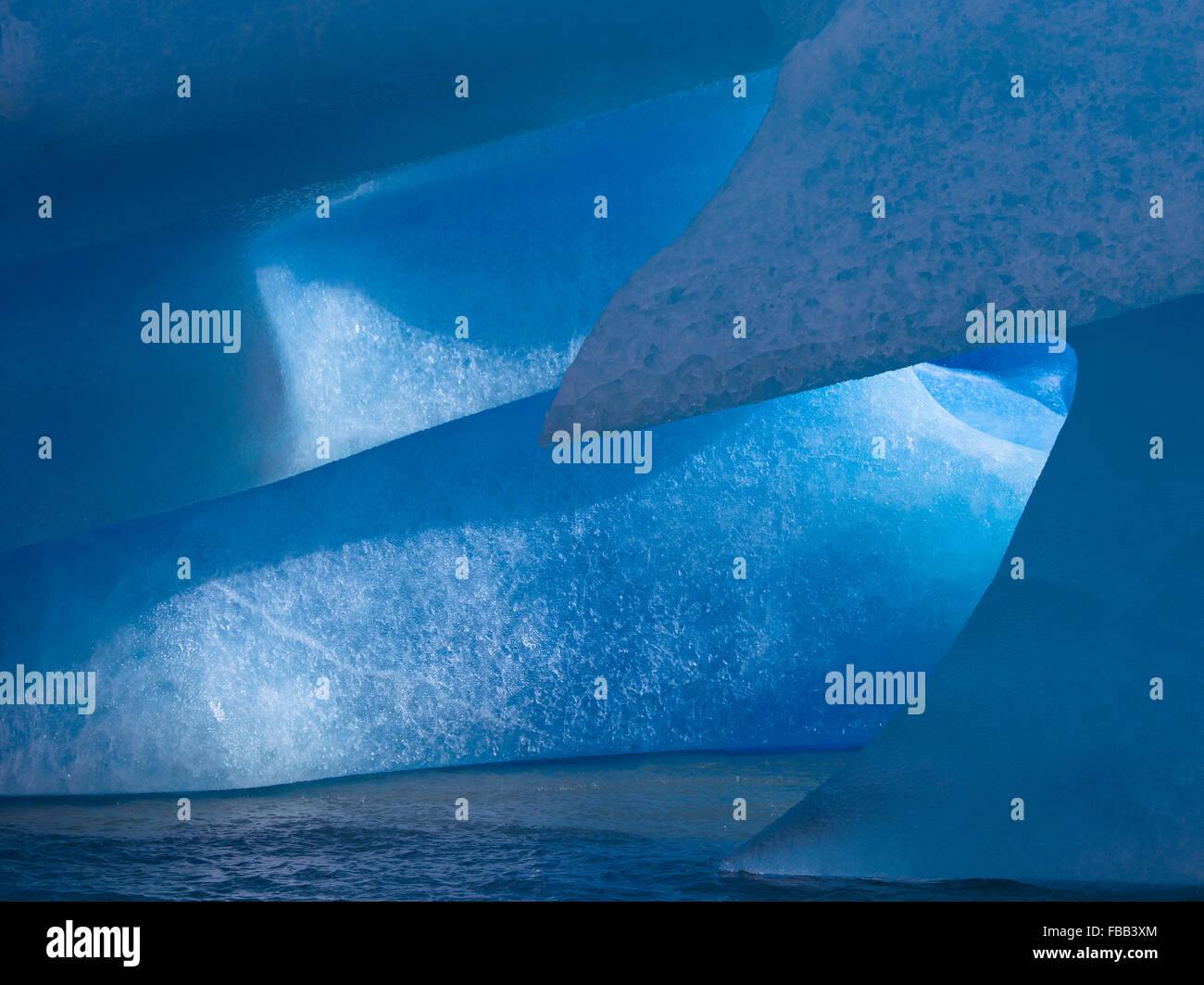 iceberg detail, Patagonia - Stock Image