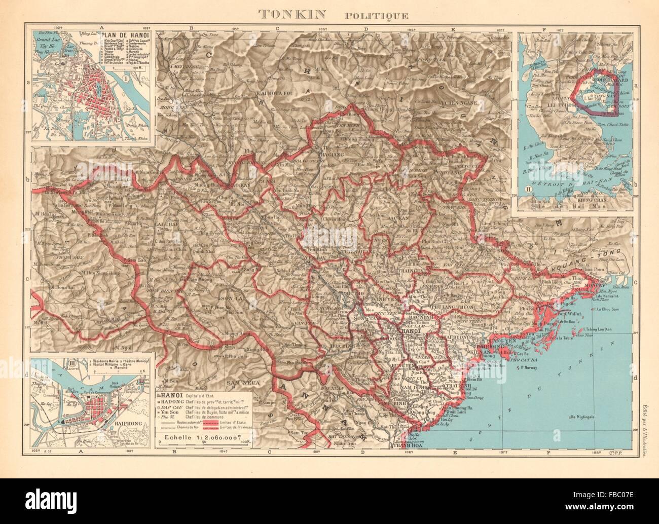 Tonkin French Indochina Indochine Vietnam Hanoi Haiphong City