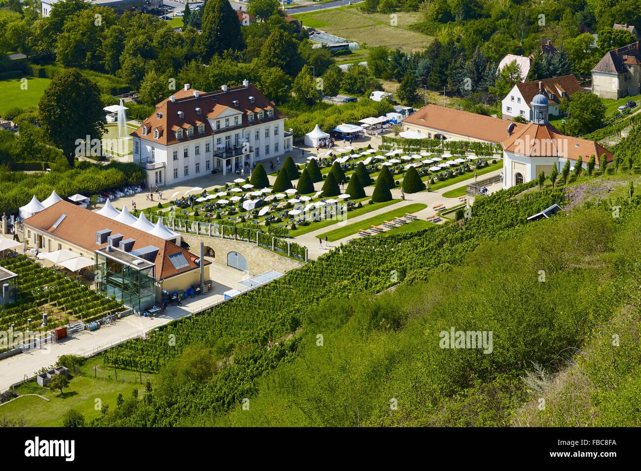 Castle Wackerbarth, Radebeul, Saxony, Germany - Stock Image