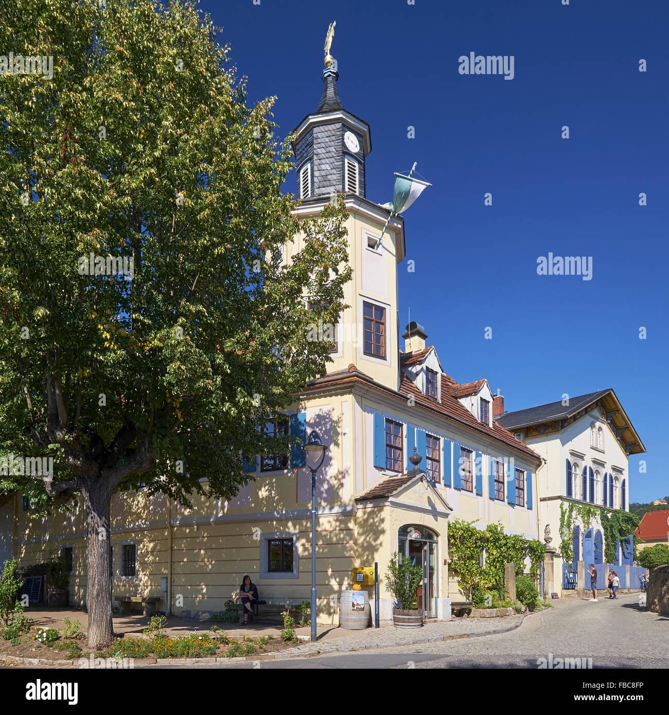 Meinhold tower house, Radebeul, Germany - Stock Image