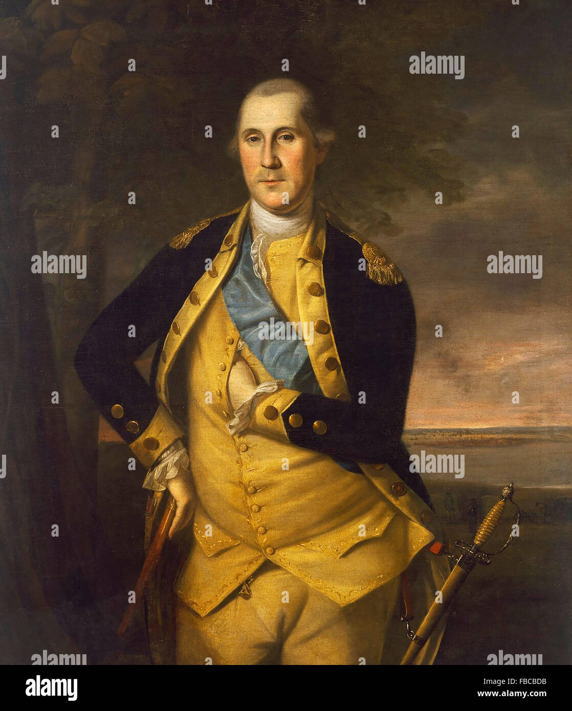 General George Washington, portrait by Charles Willson Peale, 1776 - Stock Image