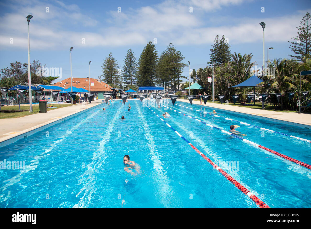 Byron Bay public open air olympic size swimming pool near ...