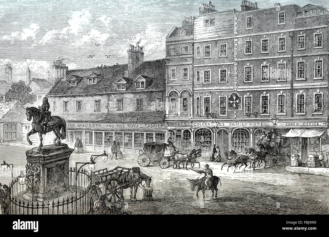 Charing Cross Hotel, 1750, London, England