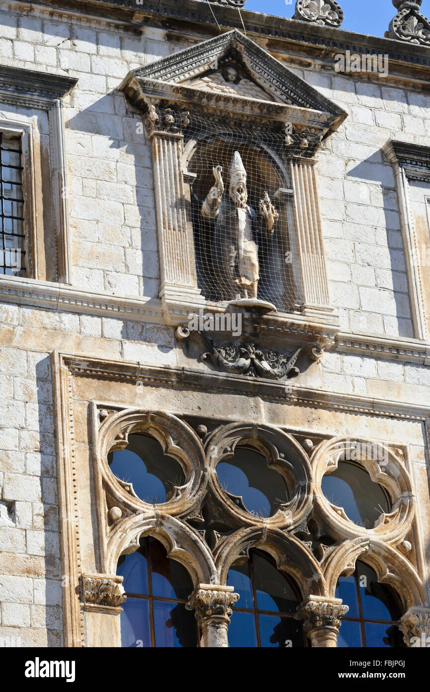 The Sponza Palace in the Old Town in Dubrovnik, Croatia. - Stock Image