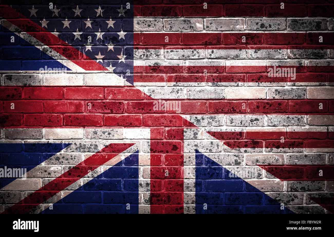 American and British partnership. - Stock Image