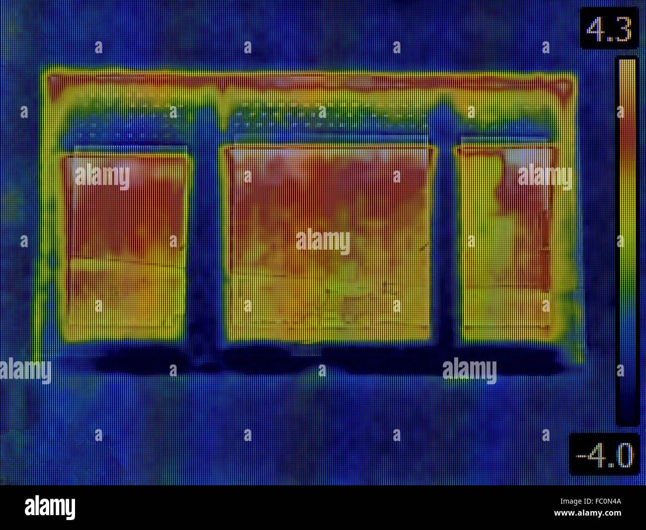 Heat Loss Detection Stock Photo
