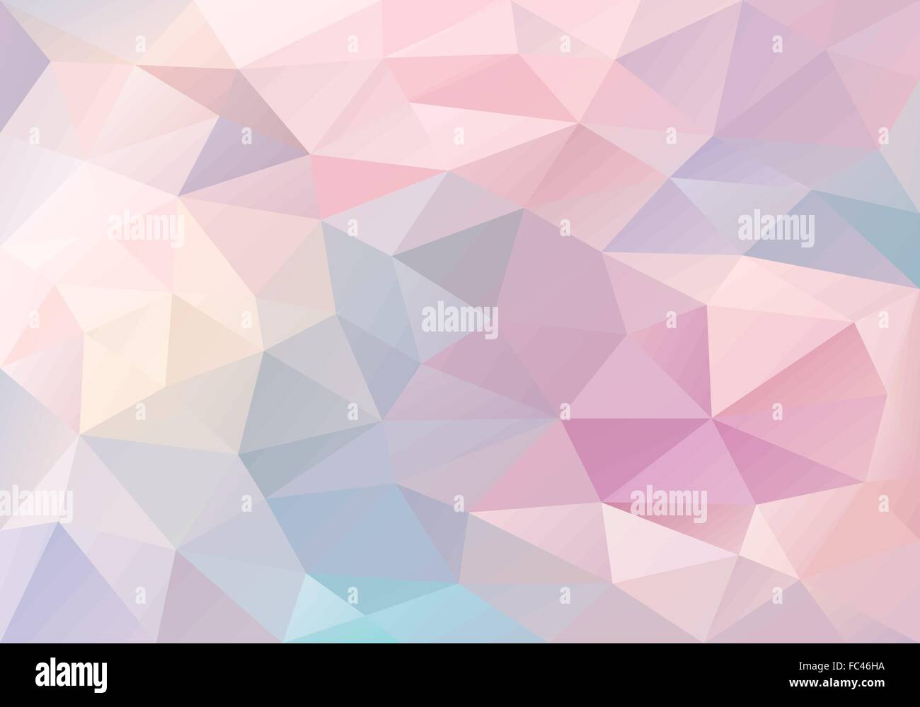 abstract pastel blue and pink low poly background vector design
