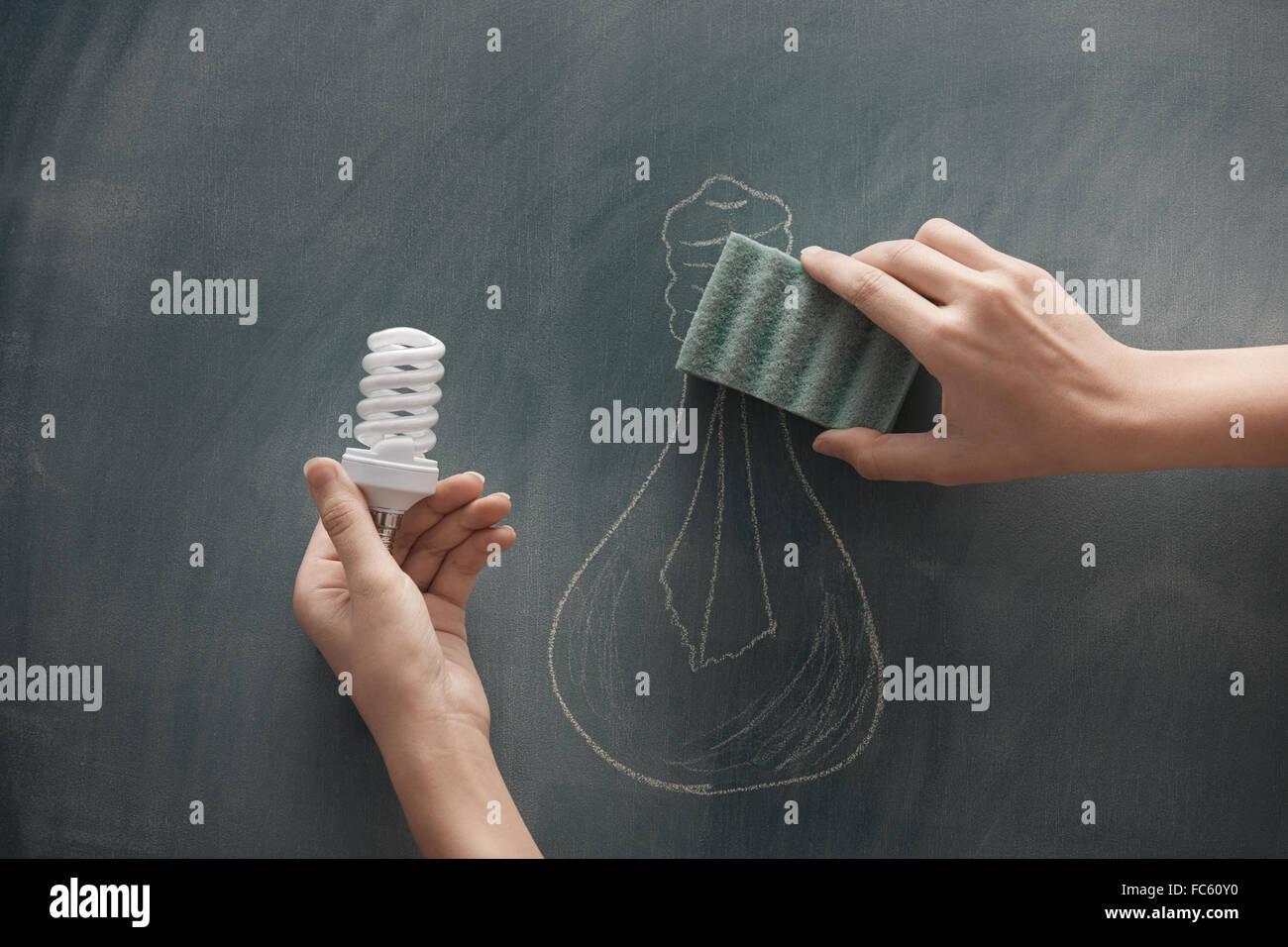 Energy saving - Stock Image