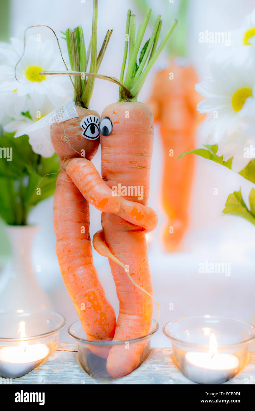 Still life of a carrot wedding Stock Photo