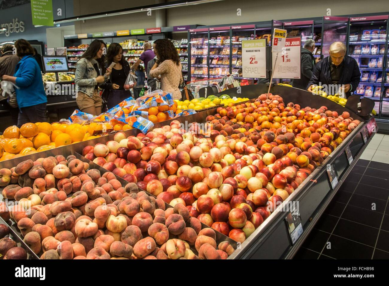 ILLUSTRATION OF CONSUMER CONSUMPTION IN FRANCE - Stock Image