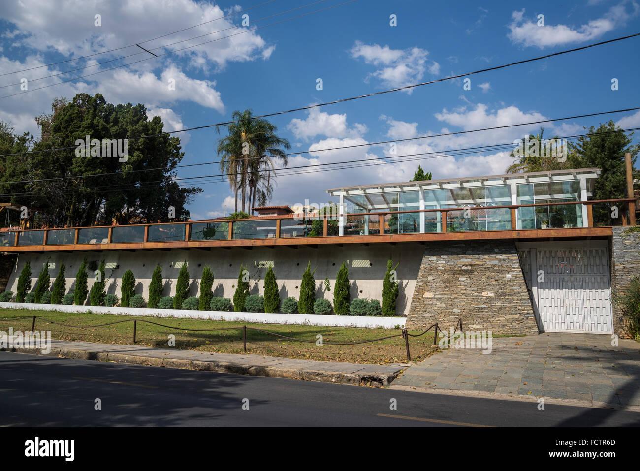 Wealthy residential property, Pampulha, Belo Horizonte, Minas Gerais, Brazil - Stock Image