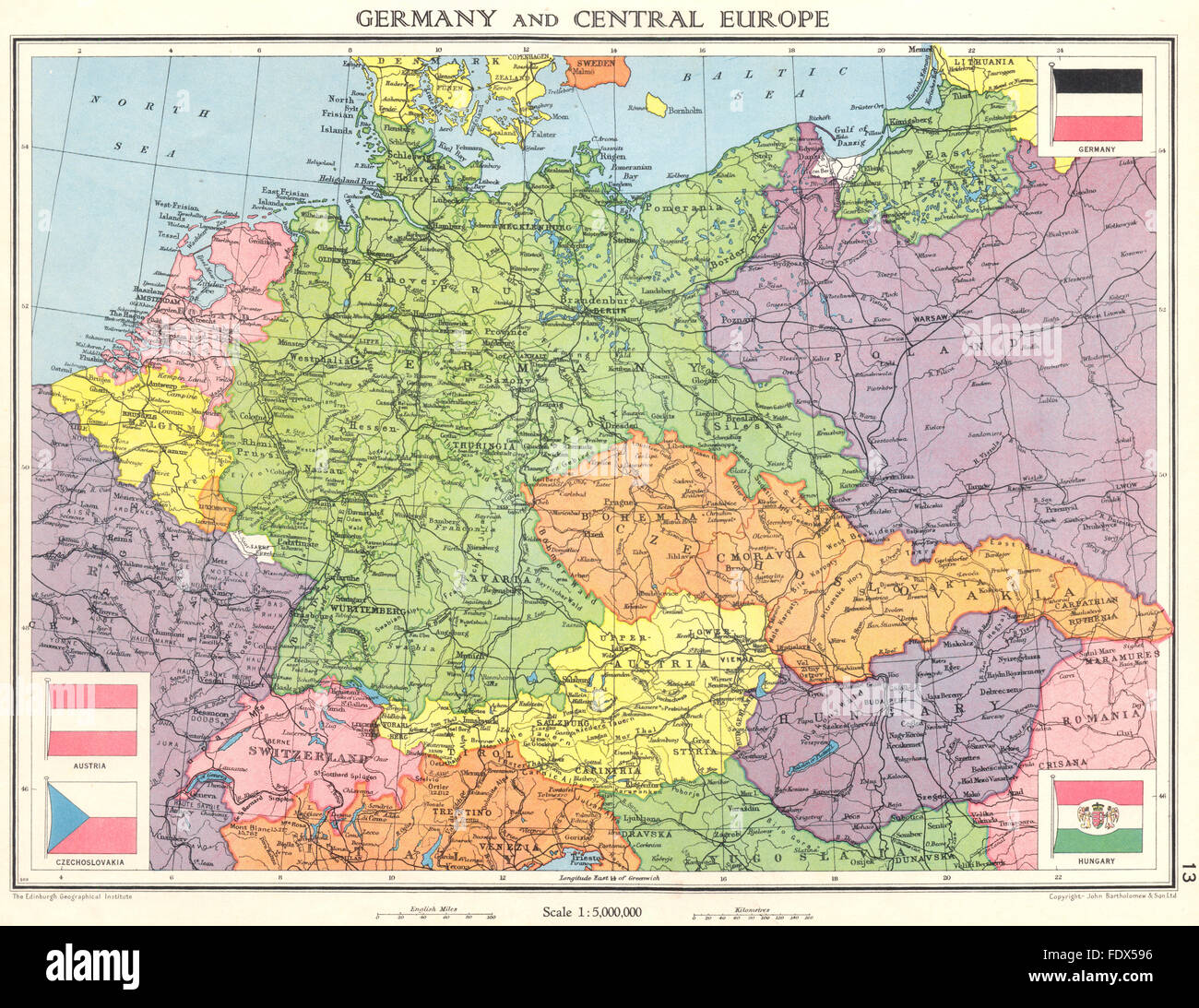 Central Germany Map.Germany Central Europe Shortly Before World War 2 Saarland 1938