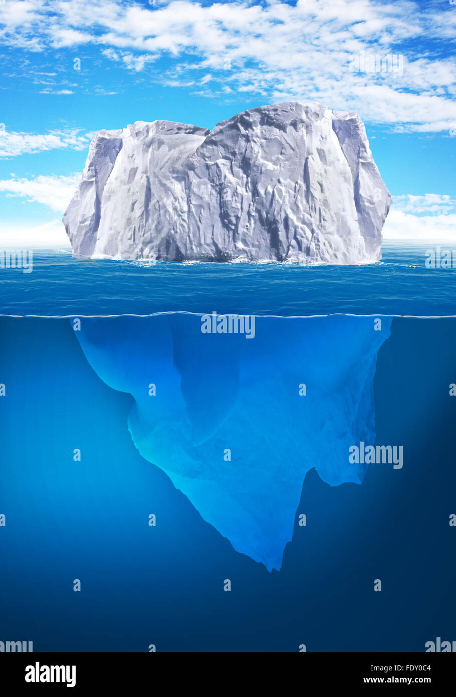 Antarctic iceberg in the ocean. Beautiful polar sea background. Stock Photo