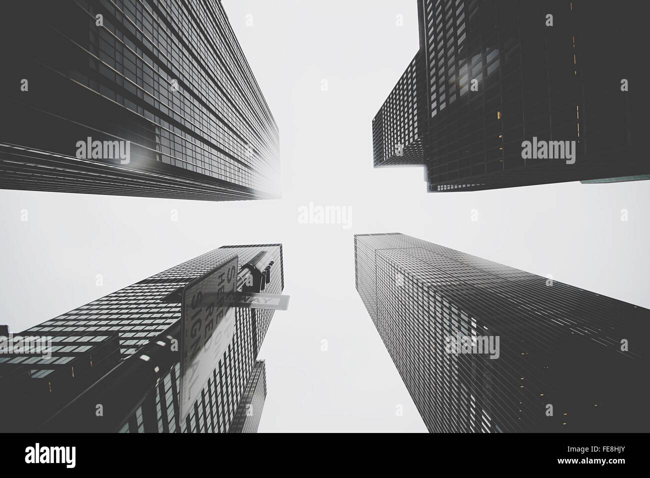 Low Angle View Of Skylines - Stock Image