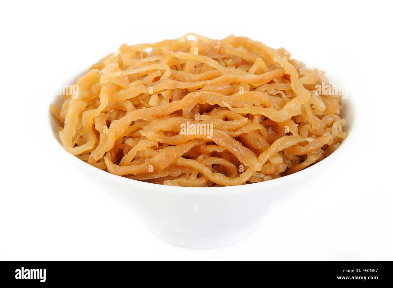 Pickle turnip in bowl - Stock Image