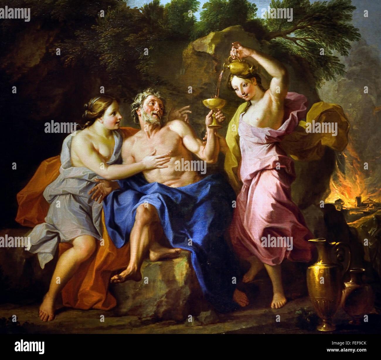 lot noel Lot and his Daughters (or Drunkenness Lot) by Noel Coypel 1628  lot noel