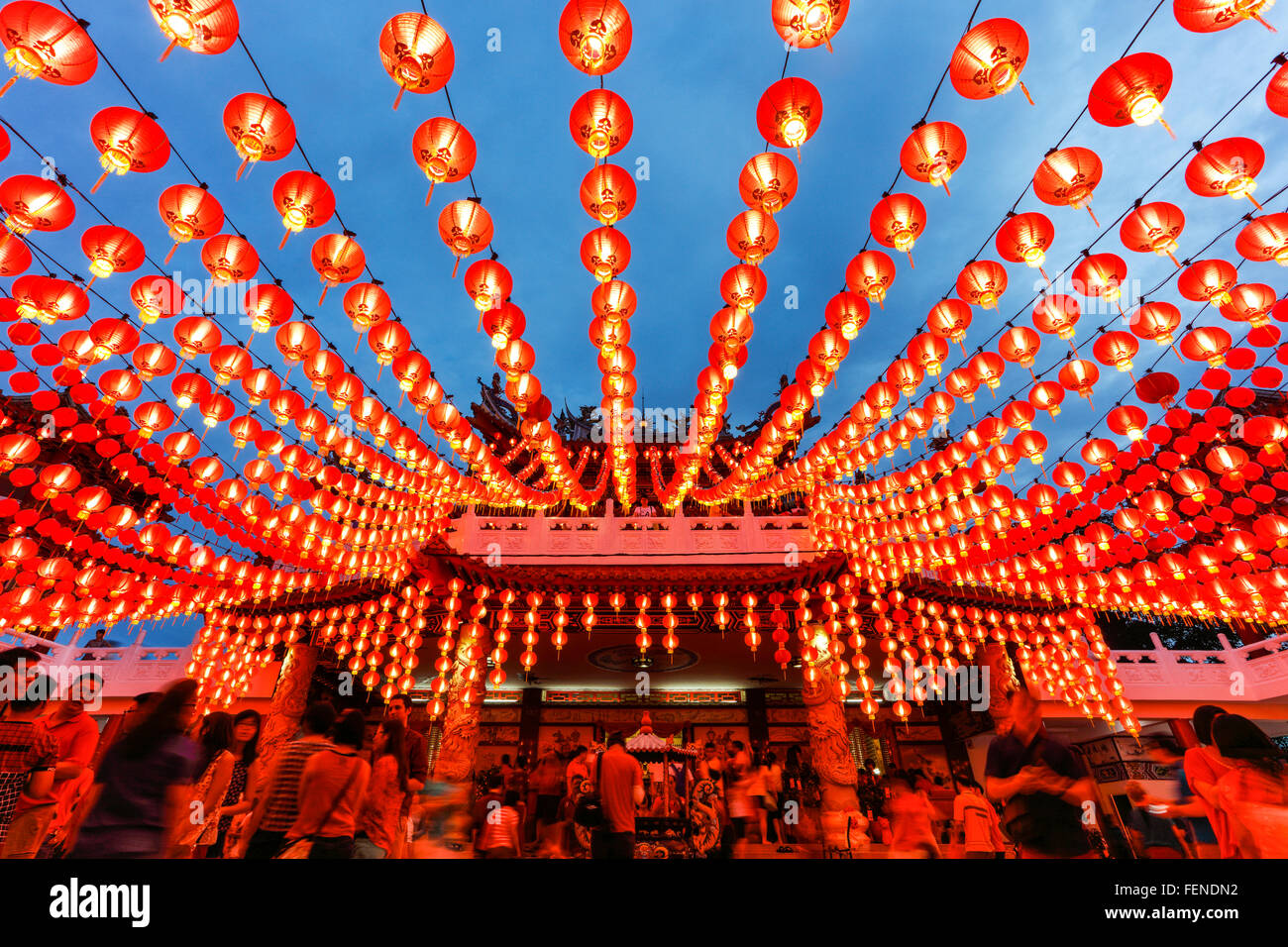 The Lanterns of Thean Hou temple during the Chinese New Year, Kuala Lumpur, Malaysia. - Stock Image