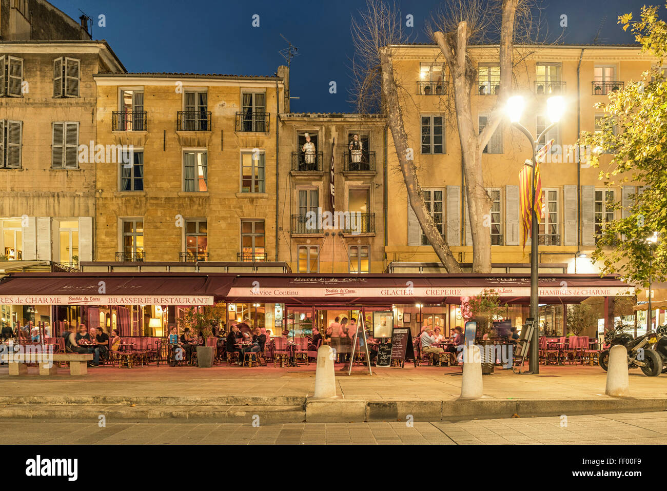 Brasserie , Cours Mirabeau, Aix en Provence. Provence, France - Stock Image