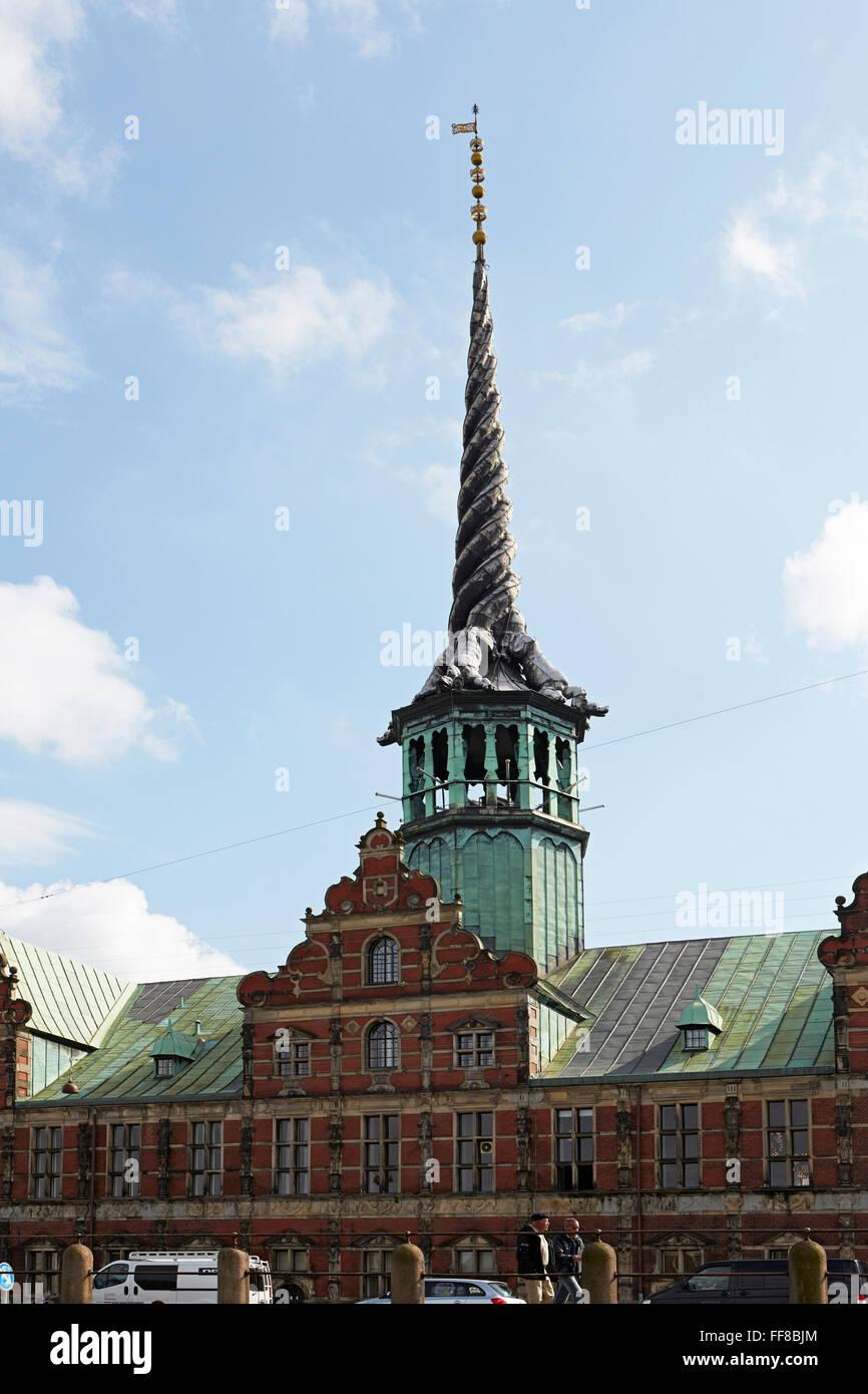 Copenhagen old Stock Exchange Borsen - Stock Image