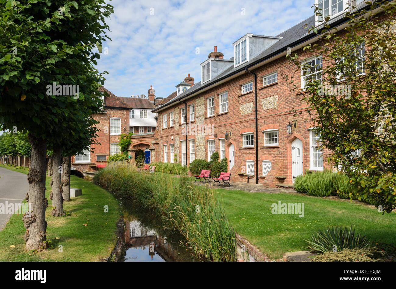 Homes in Old Amersham, Amersham, Buckinghamshire, England, UK. Stock Photo