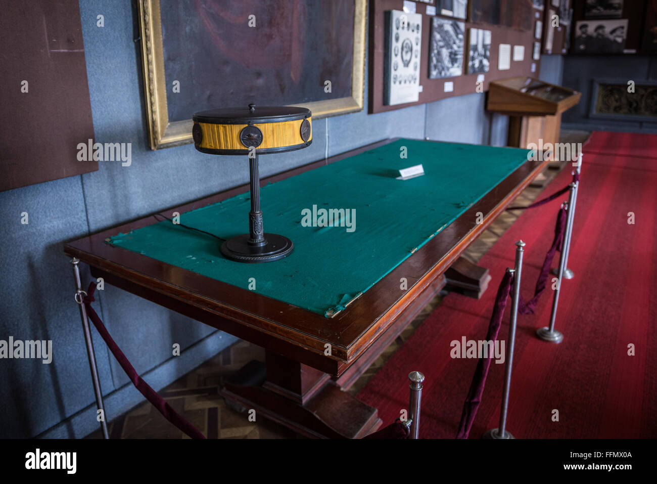 Table From Conference Room In Kremlin At Joseph Stalin Museum In - Pool table conference room table