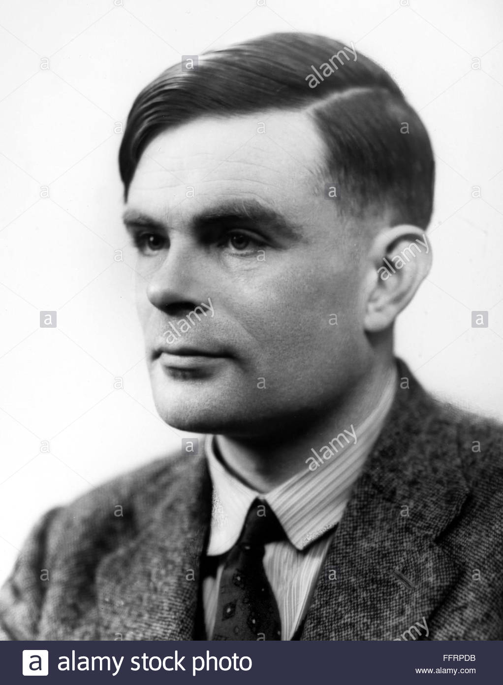 ALAN MATHISON TURING /n(1912-1954). English mathematician and logician. Photographed in 1951. Stock Photo