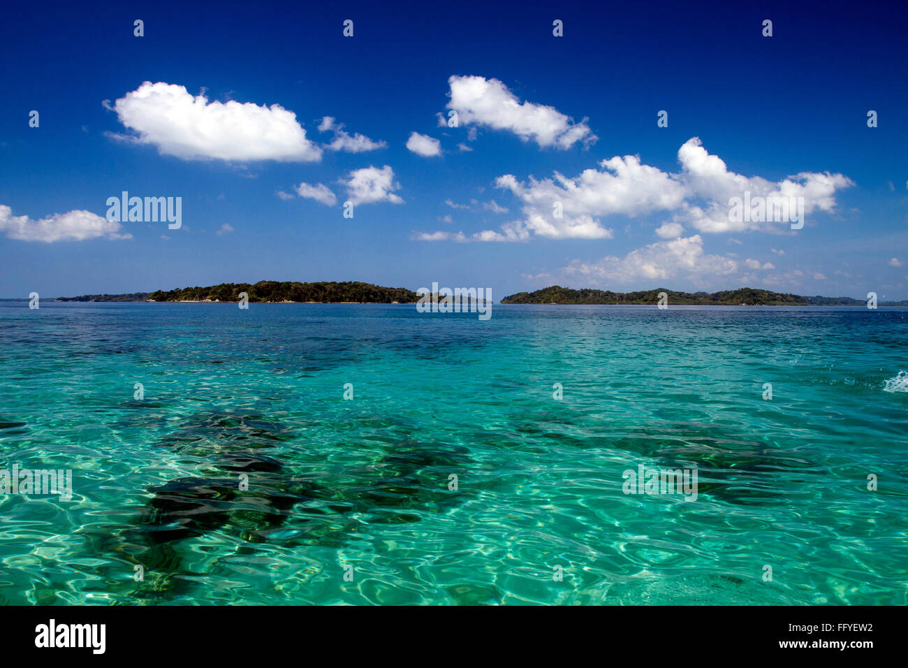 Jolly Buoy island near Wandoor Andaman India Asia - Stock Image