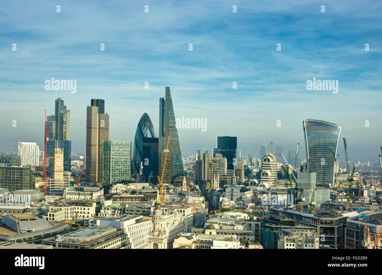 London Skyline.  Skyscrapers City of London.  Financial District - Stock Image