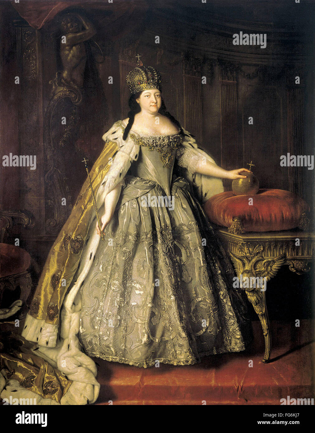 Anna of Russia, Anna Ioannovna, Anna Ivanovna, Empress of Russia from 1730 to 1740. - Stock Image