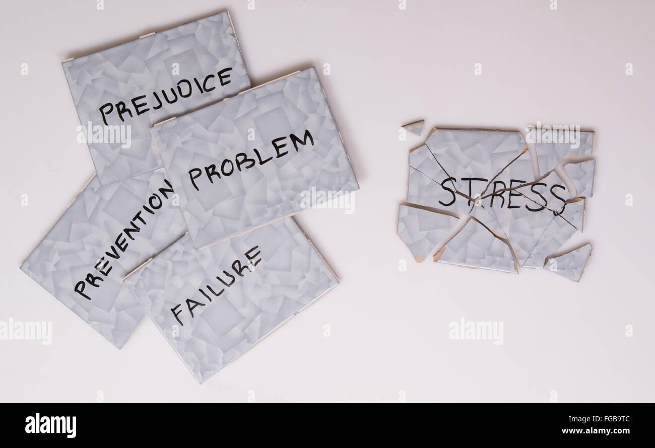 overcome stress - Stock Image
