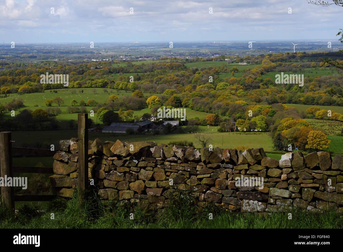 Lancashire landscape taken from Beacon Fell Stock Photo