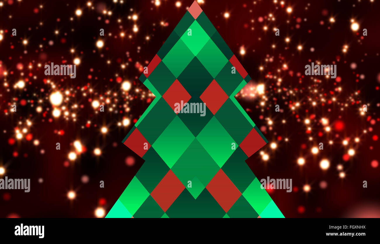 composite image of hipster christmas tree stock photo 96474054 alamy